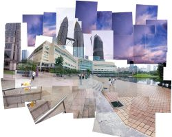 Stitched KLCC by kkog