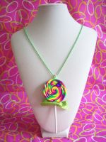 Neon Lollipop Necklace by lessthan3chrissy