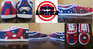 Captian America shoes by cloudkitten100
