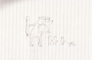 Rigby and the Bunch of Baby Ducks by abrilmazziotti