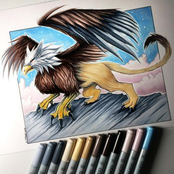 Griffin Drawing by LethalChris