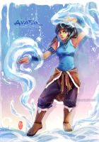 Korra_First Impression (update) by kelly1412