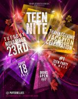 Teen Nite Thanksgiving Flyer by AnotherBcreation