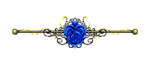 Blue Rose border Gold by CosmicDragonJazz