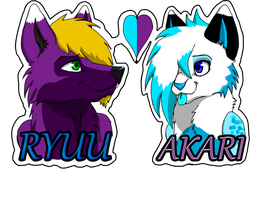 CM: Ryuu and Akari Badges by ela-moon