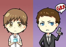 chibi Chuck and Casey by kogamelookalike