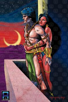 John Carter and Dejah Thoris by ArmandoBaez1949