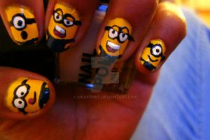 Minions Nail Art by swapthat