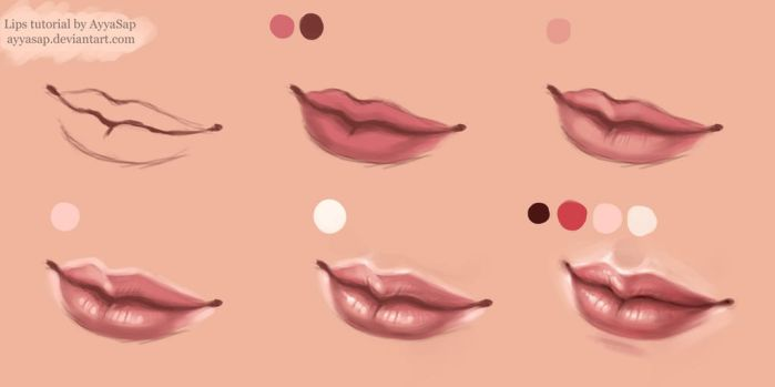 Lips Tutorial Photoshop by AyyaSAP