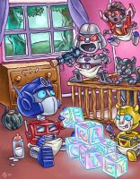 Baby Transformers by eggwhip