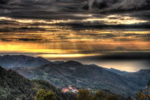 sunset on the eolie island - HDR by yoctox