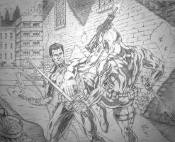 Punisher Vs. Deadpool by Robert A. Marzullo by ramstudios1