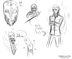 Dishonored doodles by Hizoku-no-Oni