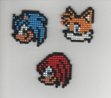 Sonic Icons by StitchPlease