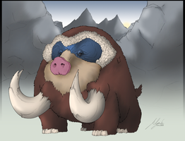 Real Mamoswine Appears by shadixART