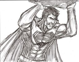 Superman sketch 2 by ribs7