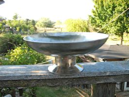 Large Bowl with Tall Stem by ou8nrtist2
