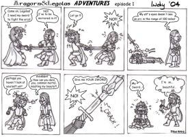 Aragorn and Legolas Adventures by IndyCloes