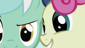 Lyra and Bon Bon Wallpaper by EvilDocterMcBob