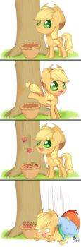 Apple Bucking by Bukoya-Star