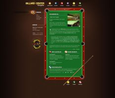 Billiardscenter Website by medienvirus