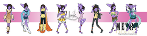 Eeveelutions collection 2. by Airanke