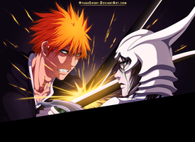 Bleach 340- Ichigo vs Ulquiorra by hyugasosby