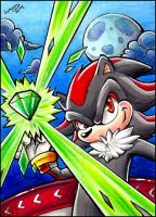 ACEO - Shadow the Hedgehog by Lumary92
