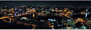 Panorama Cairo City at Night by KINGTEAM
