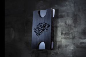 Luxury wallet with Stark House Sigil. by PyramidWallet