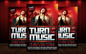 Turn Up The Music Flyer PSD by MatteoGianfreda94
