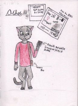 Ashes the Cat by MatthewFrostpaws