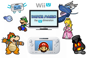 Paper Mario : The U Dimension - C O N C E P T by MonoKhromatik