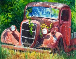 Rusty Truck by KathleenCasey