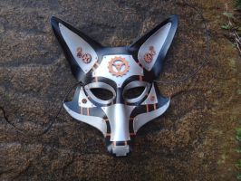 Steampunk Fox leather mask by Masktastic