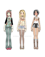 Girl Next Door adopts [closed] by Tenshilove