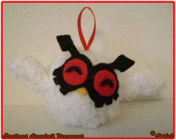 Hoothoot Snowball Ornament by sorjei