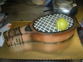 Tennis Racket Cake by Kahlan4