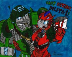 Happy Birthday, Delita-1! (2015) by KrytenMarkGen-0