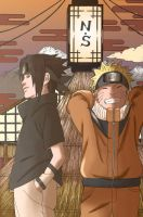 Naruto and Sasuke by 3spn4life