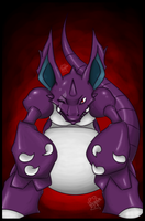 GIFT: angry Nidoking by Frog-of-Rock