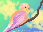 Pastel Parakeet by DarbyLucy