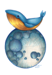 Whale on the Moon by Dark-Momento-Mori
