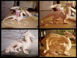 Sculpey dragon 2 steps by ravenoo
