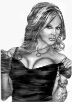 TNA Velvet Sky Pencil Drawing by Chirantha