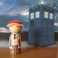 The Seventh Doctor peg doll by jen-random