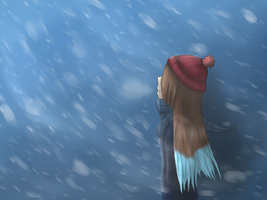 Snowstorm~ + Speedpaint! by DrawingSpyro