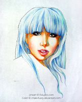 Lady Gaga Colored Lineart by ChiakiNeko