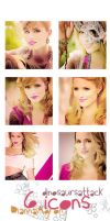 6 Icons Dianna Agron by Dinosaursattack