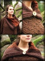 Copper-brown snood-capelet by MademoiselleOrtie